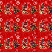 Seamless red christmas background — Stock Photo