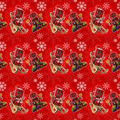 красный рождественский фон — Стоковое фото