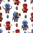 Vintage toy robot pattern — Stock Photo
