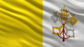 Flag of the Vatican City — Stockfoto