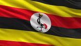 Flag of Uganda — Stock Photo