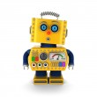 Vintage toy robot with surprised facial expression — Stock Photo #37607009