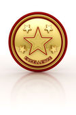 Five star excellence seal — Stock Photo