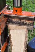 Hydraulic wood splitter — Stock Photo