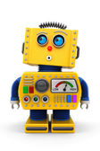 Cute toy robot looking up — Stock Photo