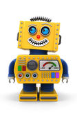 Smiling toy robot — Stock Photo