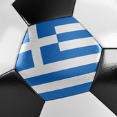Greece Soccer Ball — Stock Photo