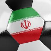 Pallone da calcio Iran — Foto Stock