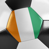 Ivory Coast Soccer Ball — Stock Photo