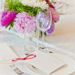 Table setting for a wedding or dinner event — Stock Photo