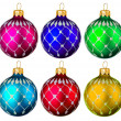 Six colorful Christmas toys — Stock Photo #14816673