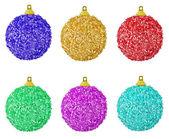 шесть цветных шаров — Стоковое фото