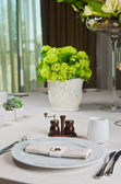 Beautifully decorated table in the restaurant. — Stock Photo
