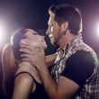 Beautiful couple in love flirting. The girl wants to kiss a guy. — Stock Photo #27690949