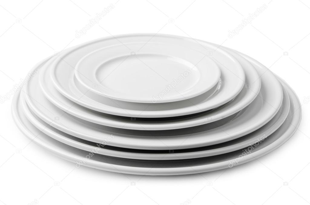 une pile dassiettes de blancs blancs de tailles diff rentes photographie dudaeva 29770647. Black Bedroom Furniture Sets. Home Design Ideas
