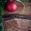 Christmas card with red toy — Stock Photo #34944949