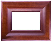 Old wooden brown frame  — Stock Photo