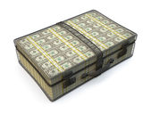 Briefcase full of money — Stock Photo