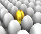 Unique egg — Stock Photo