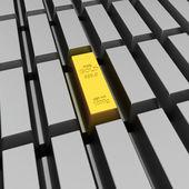 Unique gold bar — Stock Photo
