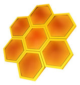 Honeycomb symbol — Stock Photo