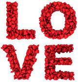 Sinal de amor, feito de pequenos corações — Foto Stock