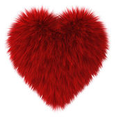 Red fur heart — Stock Photo