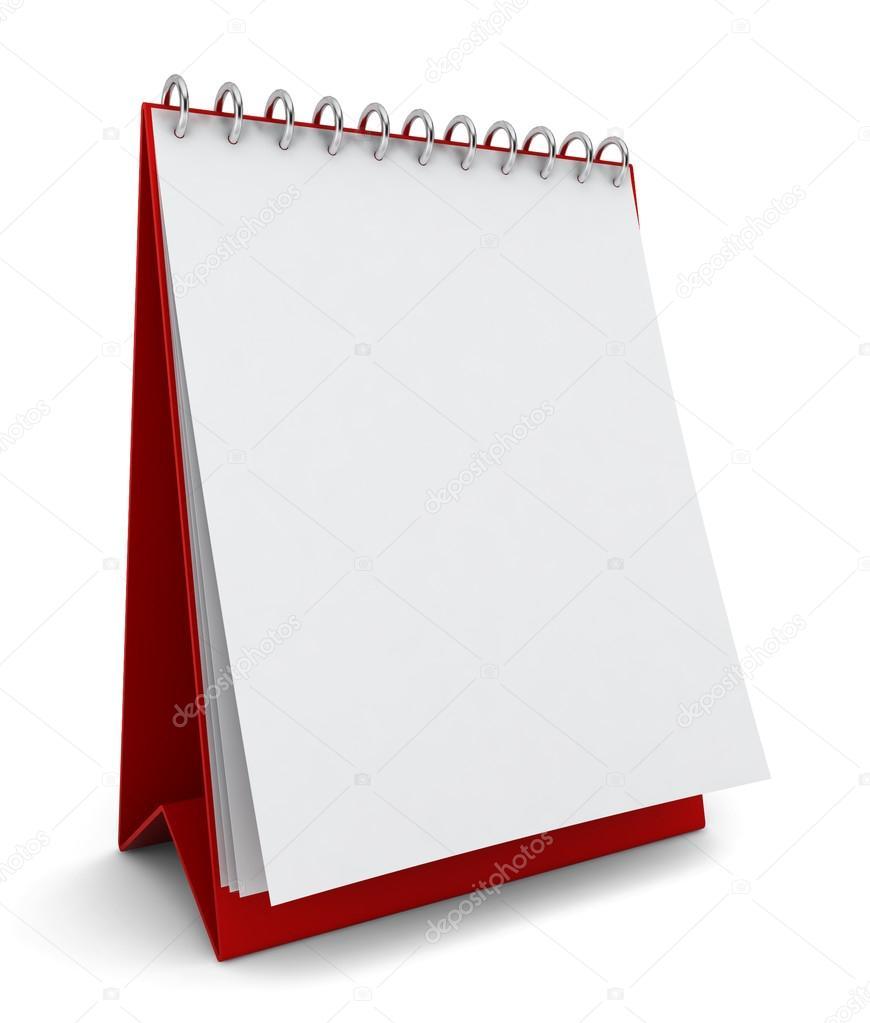 空白日历 - 图库图片