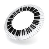 Piano circle — Stock Photo