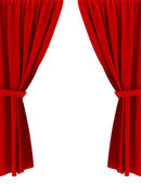Red curtains — Stock Photo