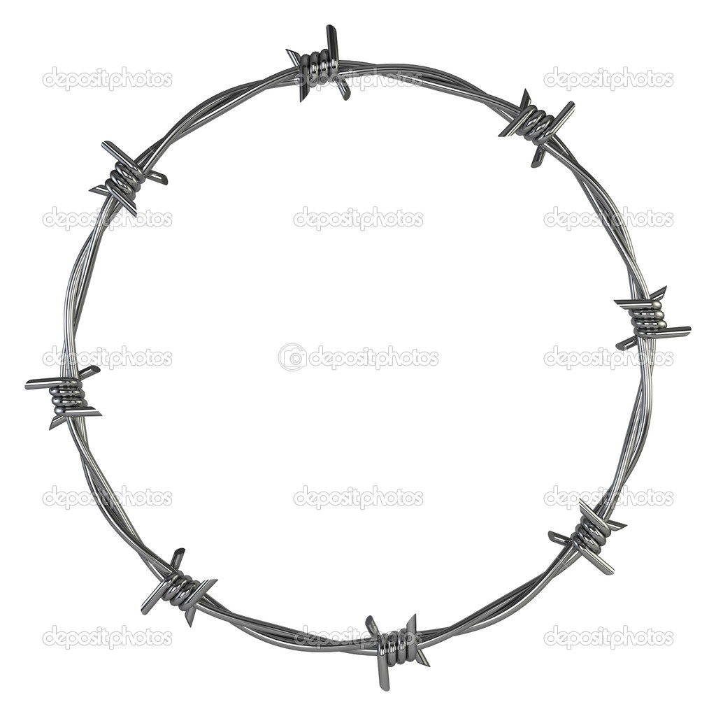 Barbed wire — stock photo montego