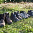Trekking boots. - Stock Photo