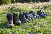 Trekking boots. — Stock Photo