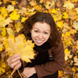Happy autumn girl. — Stock Photo