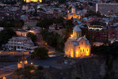 Night view of Tbilisi. — Stock Photo
