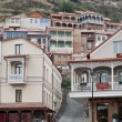 Wooden balconies in Tbilisi. — Stock Photo