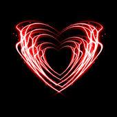 Brand hjärta. — Stockfoto