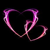 Fire heart. — Stock Photo