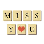 I miss you. — Stock Photo