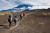 Trekking on Kamchatka. — Stock Photo