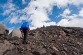Trekking en kamchatka. — Foto de Stock