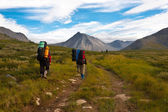 Group of hikers. — Stock Photo