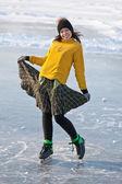 スケートの女の子. — ストック写真