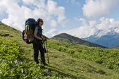 Hiking girl. — Stock Photo