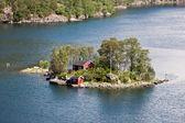 одинокая хижина, норвегия. — Стоковое фото