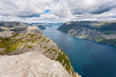 Pulpit Rock at Lysefjorden (Norway) — Stock Photo