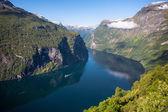 Fiorde de geiranger, noruega — Foto Stock