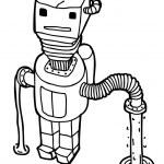 Scifi robot — Stock Vector