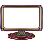 Rainbow monitor — Stock Vector #14192867