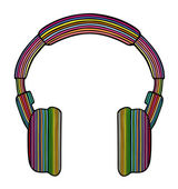 Rainbow headphones — Stock Vector